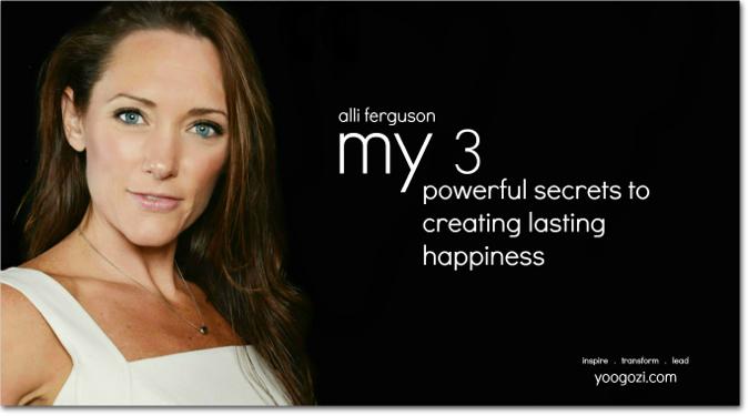 My 3 Alli Ferguson happiness for a lifetime yoogozi