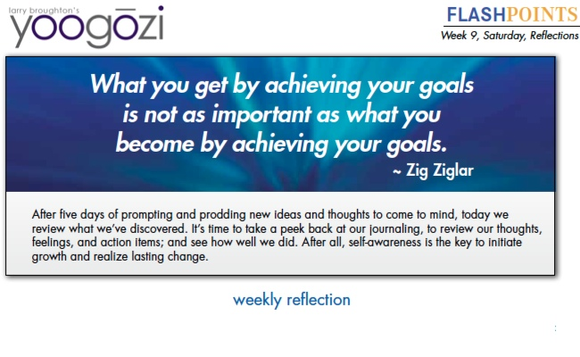 What you get by achieving your goals is not as important as what you become by achieving your goals. Zig Ziglar.
