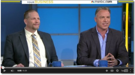 Hanging out with Chris Brogan on MSNBC Your Business yoogozi