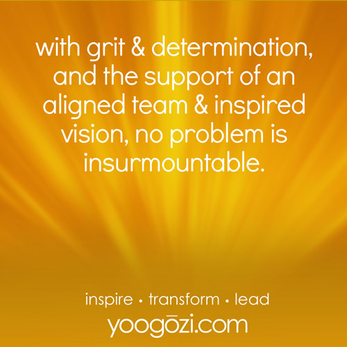 with grit & determination, and the support of an aligned team & inspired vision, no problem is insurmountable.