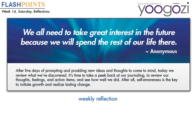 We all need to take great interest in the future because we will spend the rest of our life there.